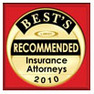 Samford & Denson is a Best's Recommeneded Insurance Attorney